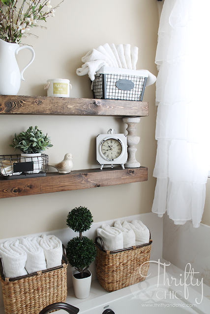 Farmhouse Floating Shelves DIY