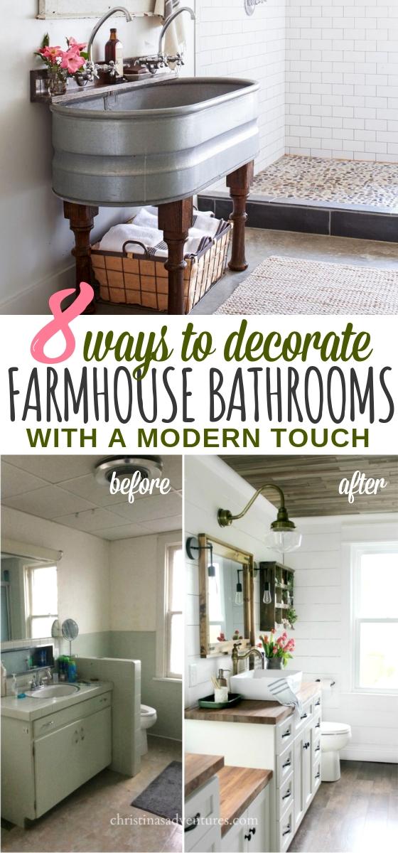 8 Farmhouse Bathroom Decor Ideas