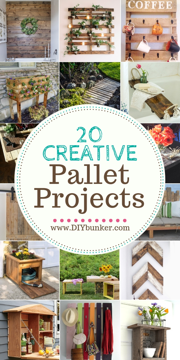 20 DIY Pallet Projects to Decorate Your Home and Garden With