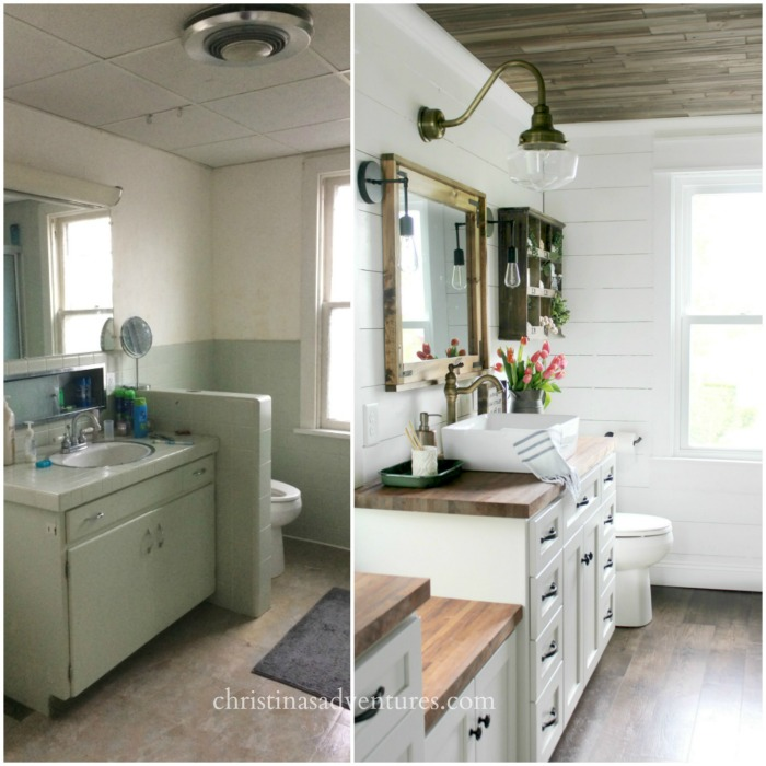 Vintage Farmhouse Bathroom Renovation
