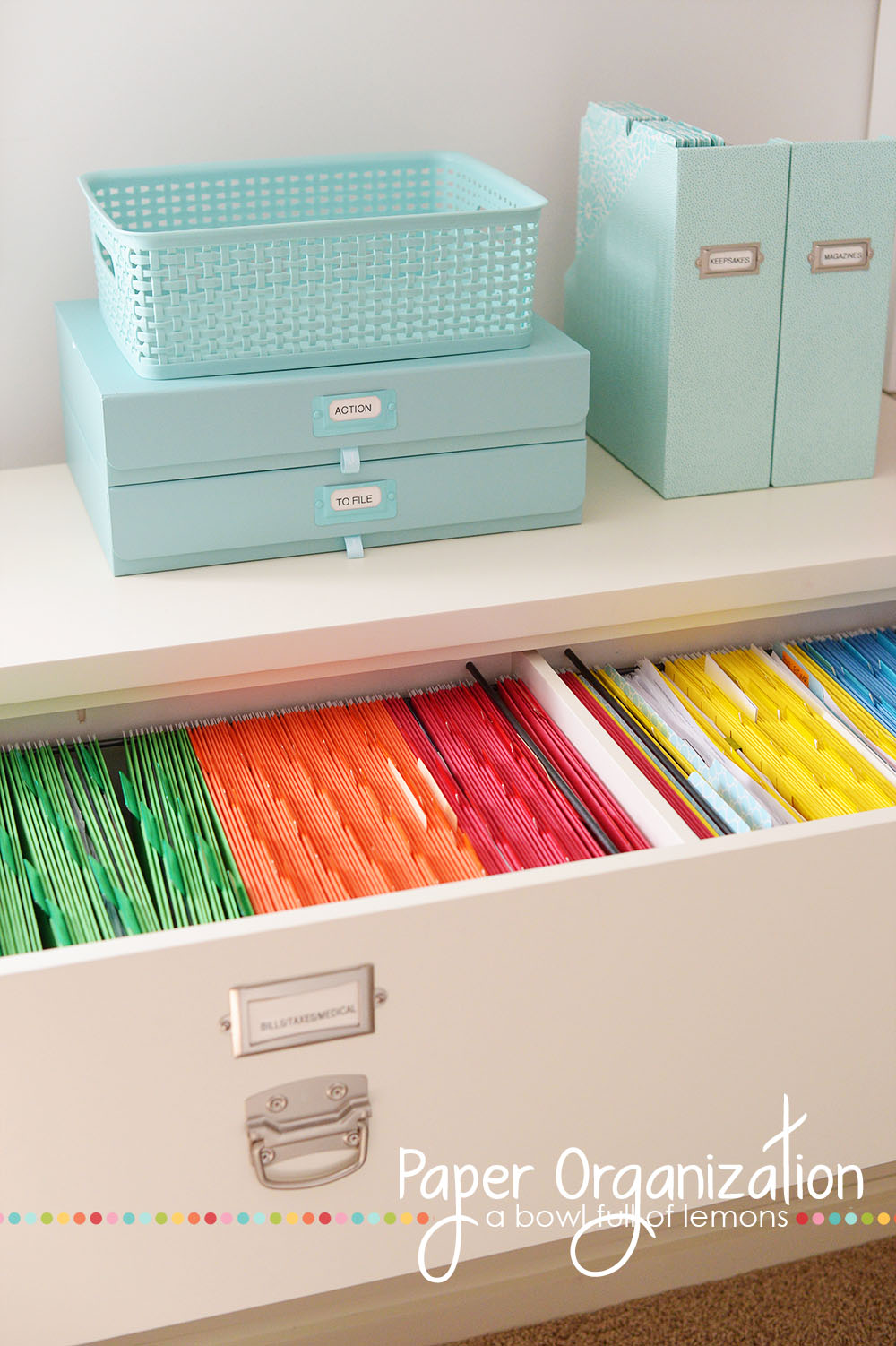 Color Coded Filing Cabinets