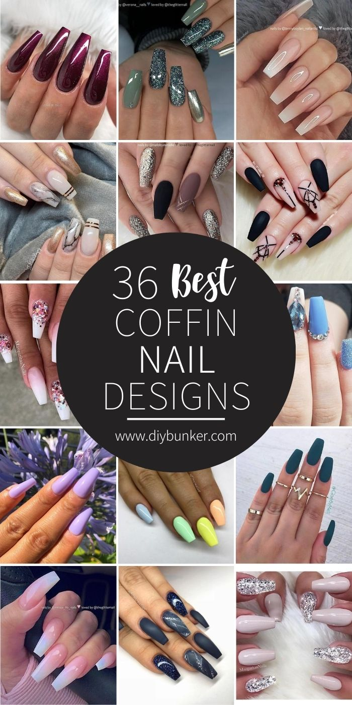 36 Best Coffin Nail Designs