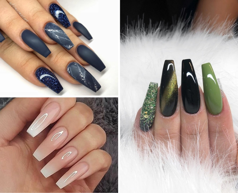 36 Best Coffin Nail Designs You Should Be Rocking In 2020