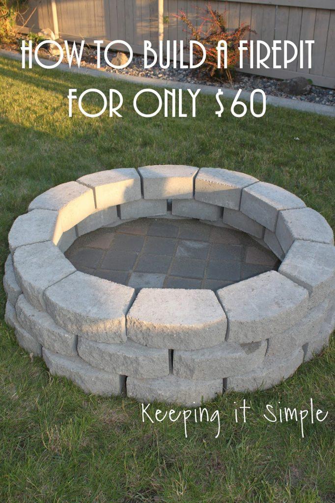 $60 Fire Pit DIY