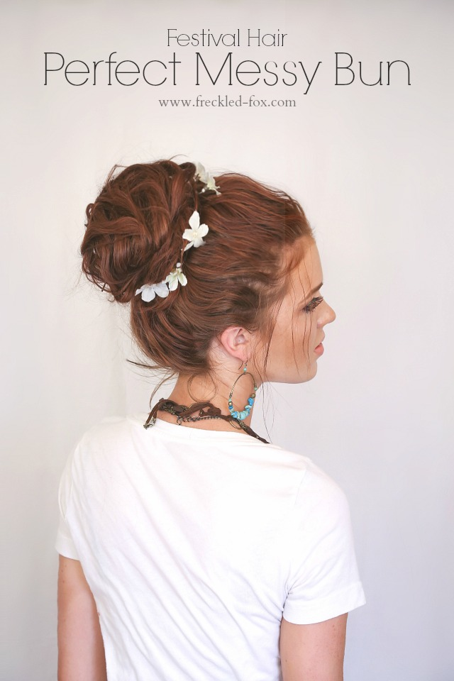 Festival Hair-Perfect Messy Bun Tutorial