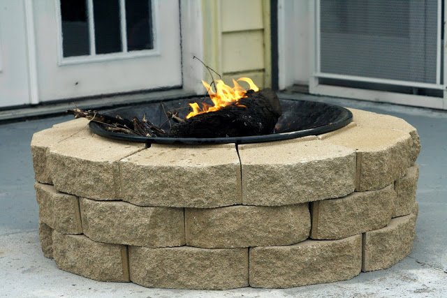 patio fire pit DIY