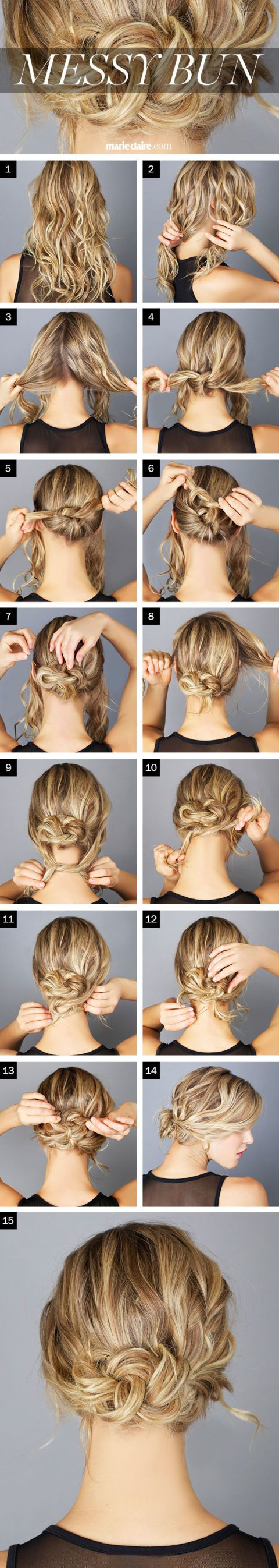 Easy Bun Hairstyles for the Messy Look