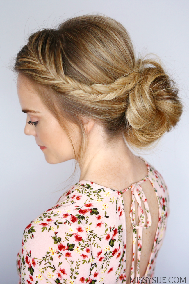 Fishtail Low Braid Bun