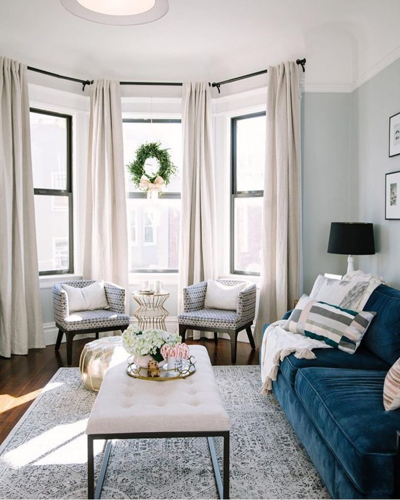 Tall Curtains for Small Living Rooms
