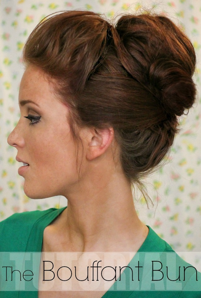 Bouffant Bun Hair Tutorial