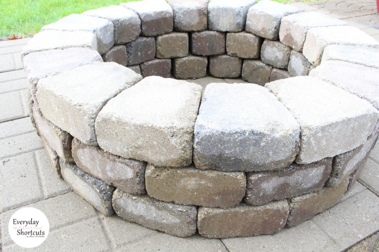 Paver Patio Fire Pit DIY