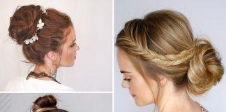 easy bun hair tutorials