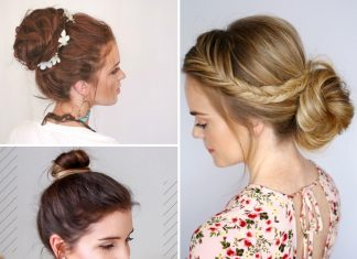 easy bun hair tutorials