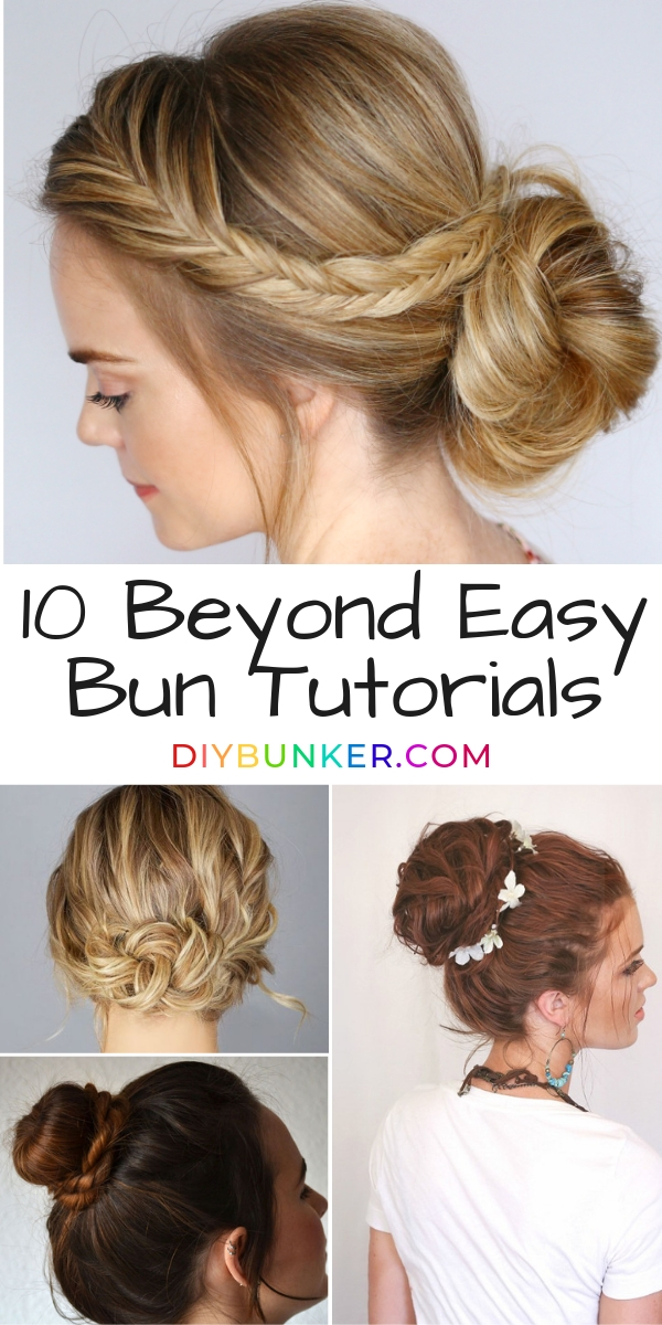 10 Easy Bun Tutorials Step by Step