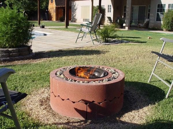 Concrete Tree Ring Fire Pit DIY
