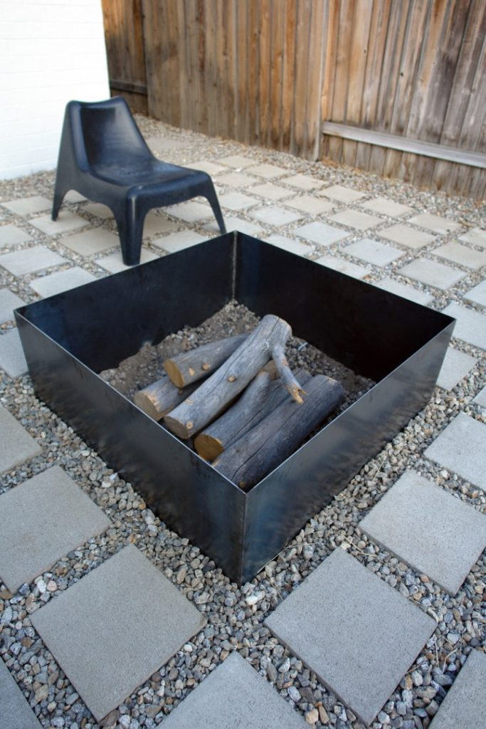 Simple and Small Firepit Idea