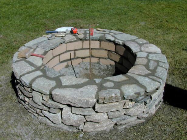 Stone Firepit DIY