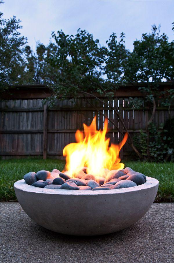 Tabletop Concrete Bowl Firepit DIY