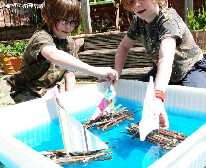 Stick Raft Building Craft STEAM Project for Kids