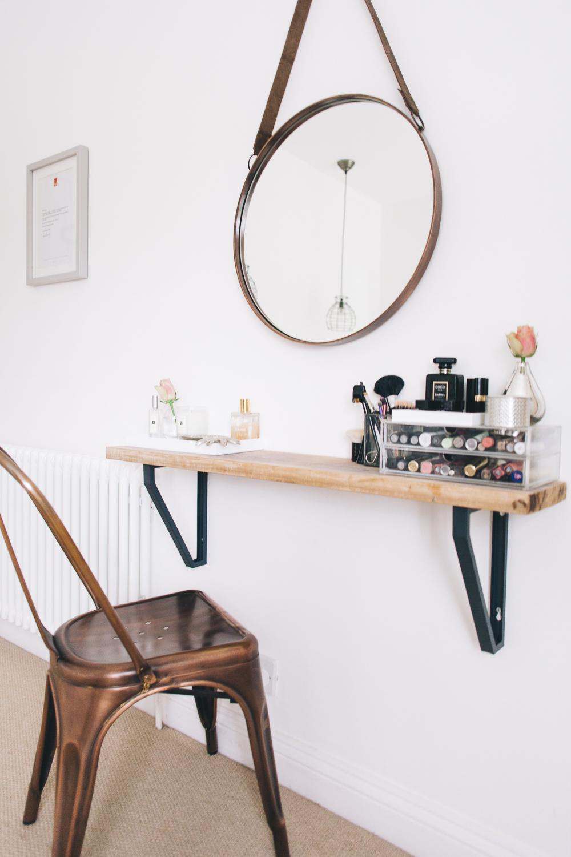 Wood DIY Floating Makeup Vanity