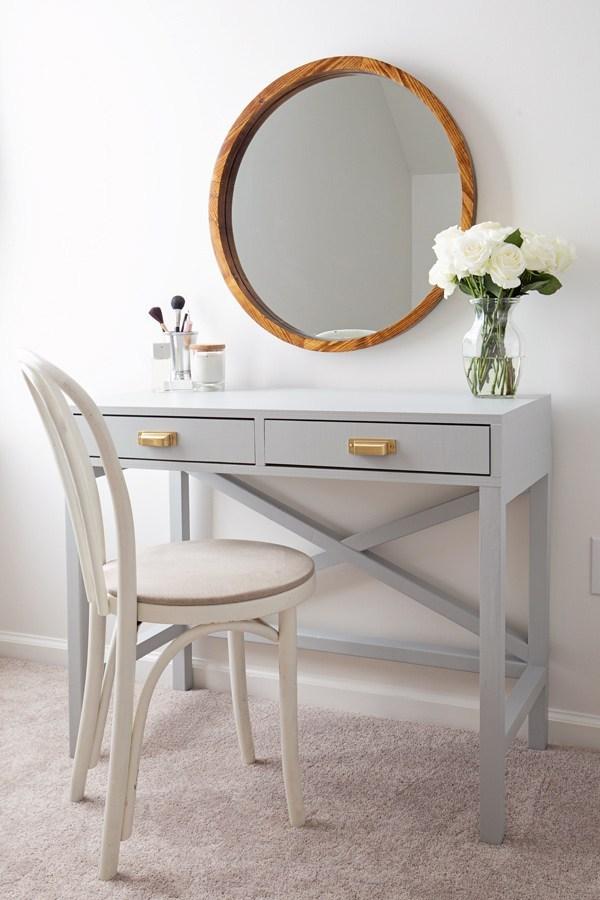 Cheap IKEA Grey Modern DIY Vanity Idea