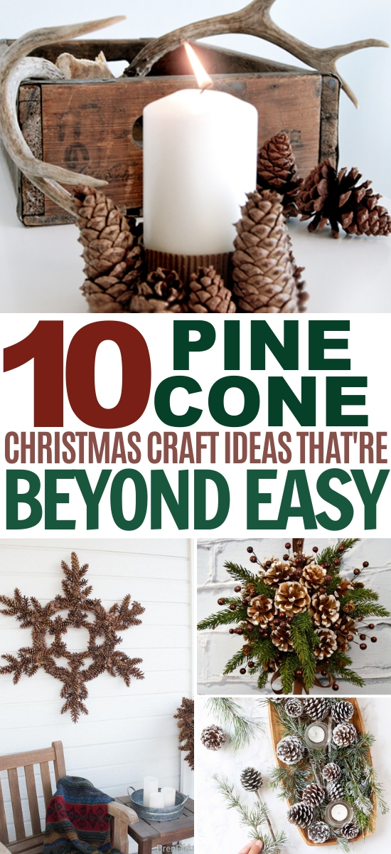10 Christmas Pine Cone Crafts