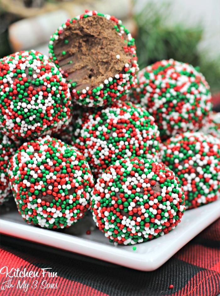 Boozy Christmas Chocolate Truffles