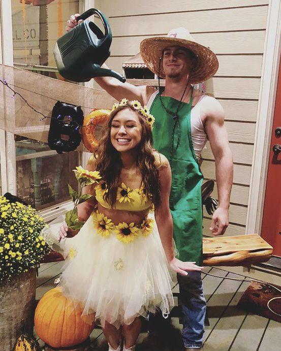 Farmer and Sunflower Girl
