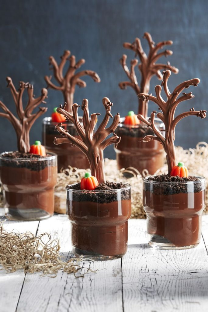Dark Forest Pudding Cups