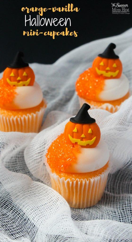 Orange Halloween Cupcakes