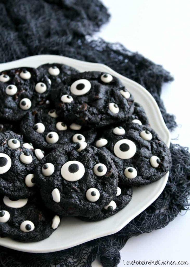 Spooky Black Cookies