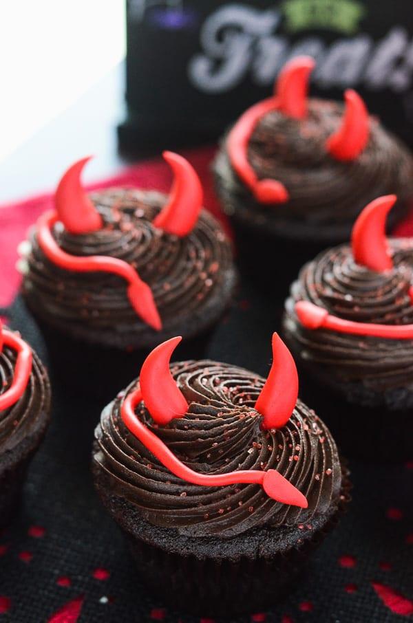 Spicy Devil's Food Cupcakes