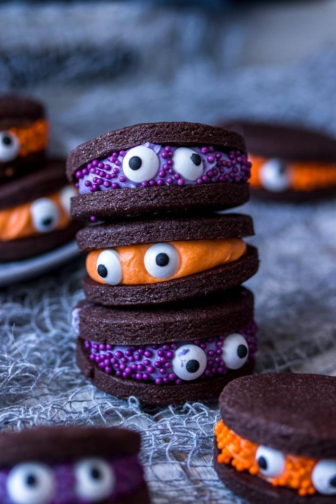 Chocolate Monster Halloween Cookies