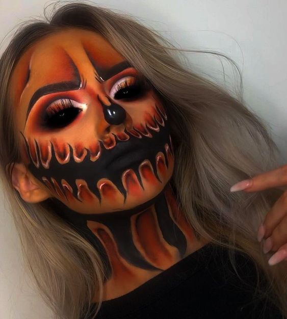 Hell Fire Demon Makeup