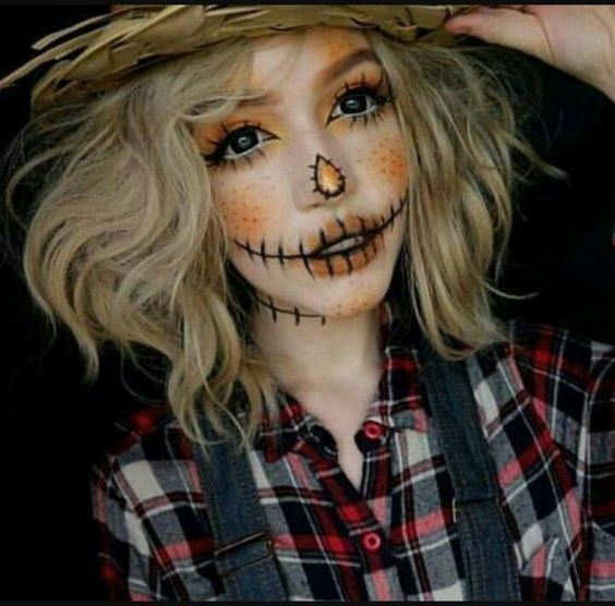 Adorable Scarecrow Makeup