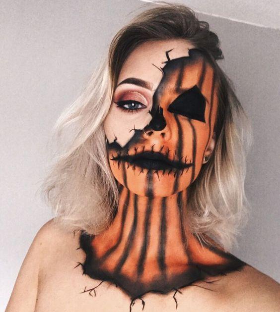 Half Ghoul Face