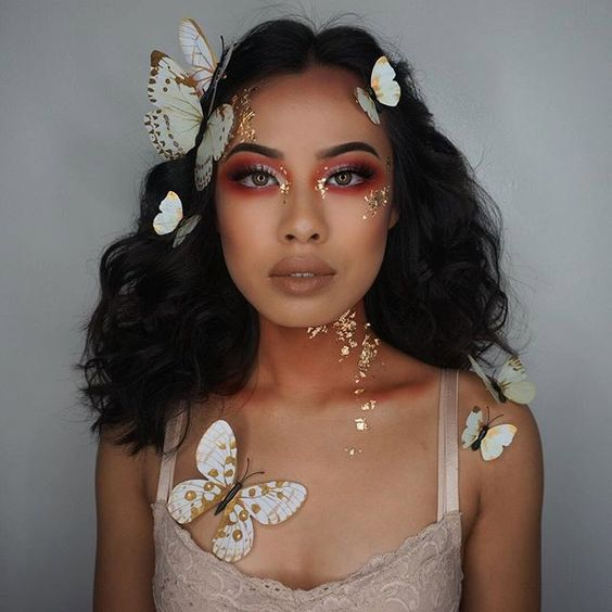 Butterfly Faerie Girl - Halloween Makeup Ideas for Women
