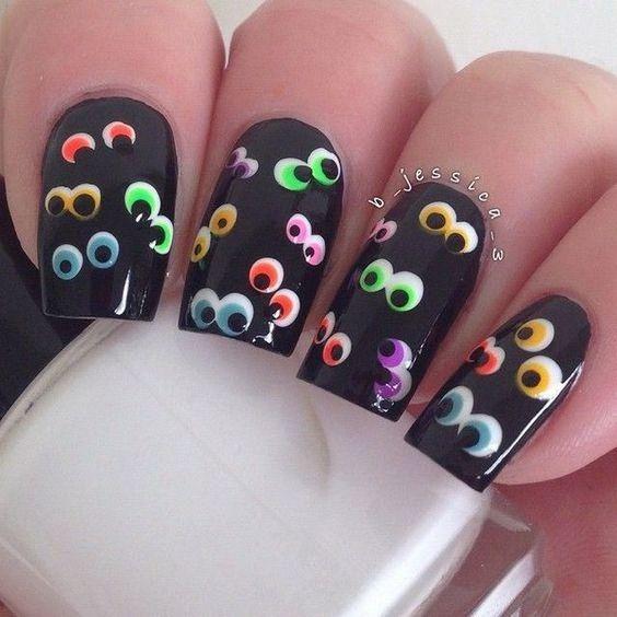 Colorful Eyeballs in the Dark