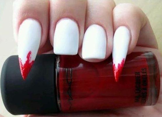 Bloody Vampire Fang Nails