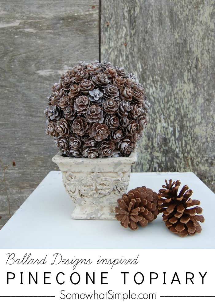 How to Make Pine Cone Topiary