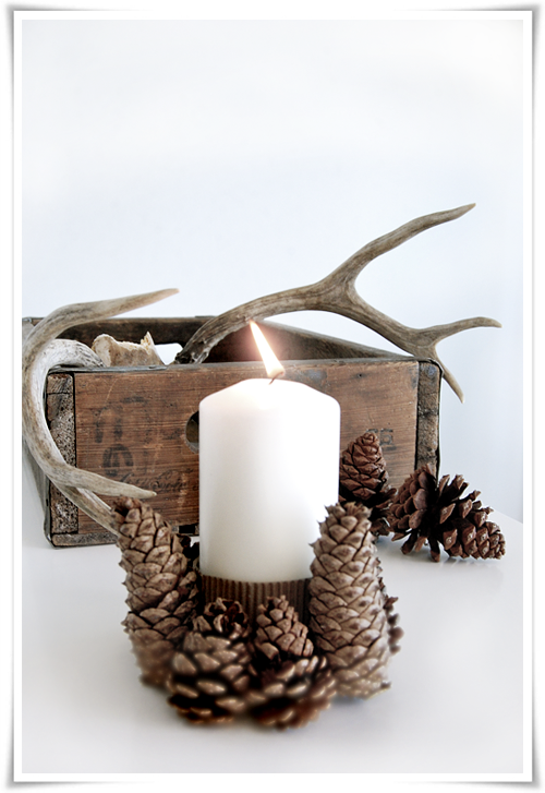 Pine Cone Candle Holder