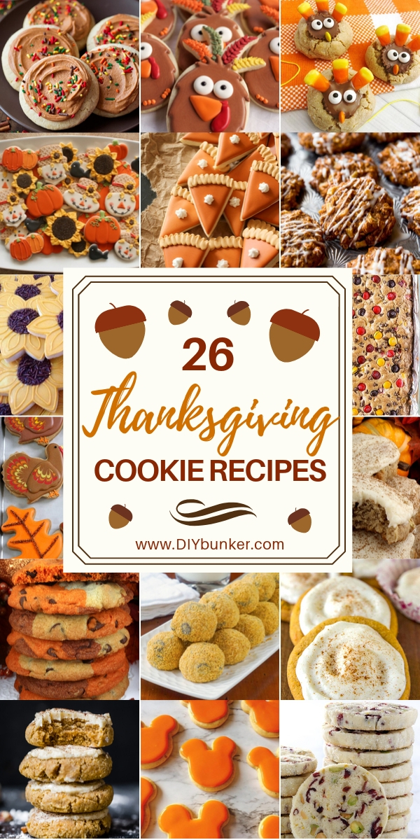 26 Best Decorated Thanksgiving Cookies