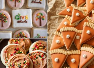 Decorated Thanksgiving Cookies