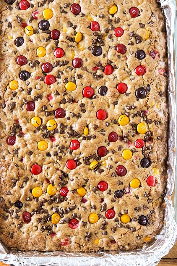 Harvest M&M Cookie Bars