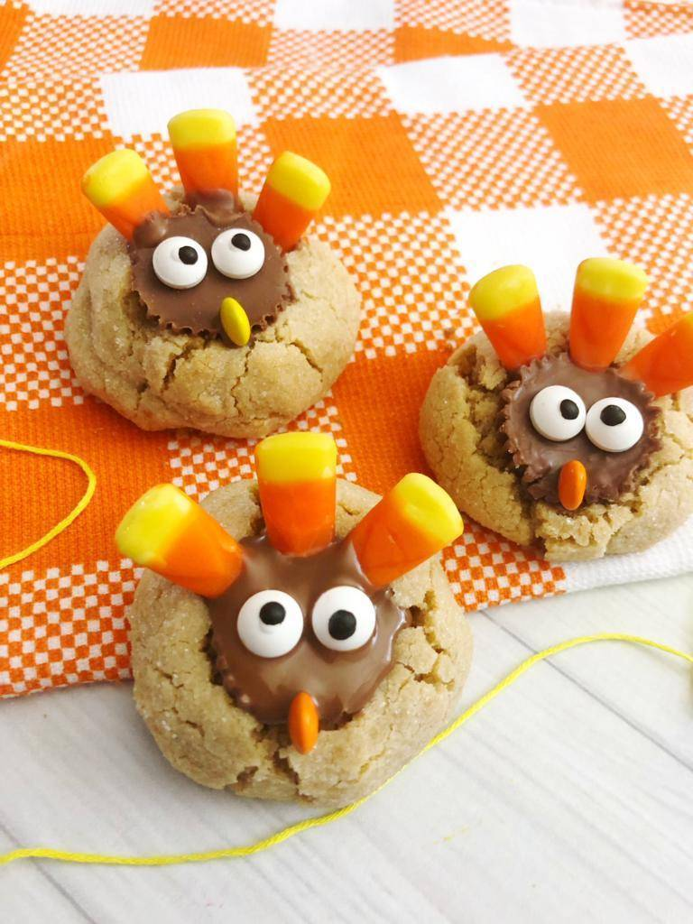 Peanut Butter Cup Turkey Cookies