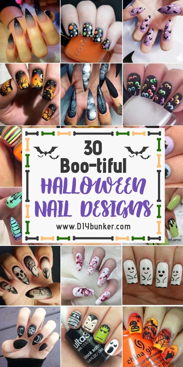 30 Cute Halloween Nail Art Ideas