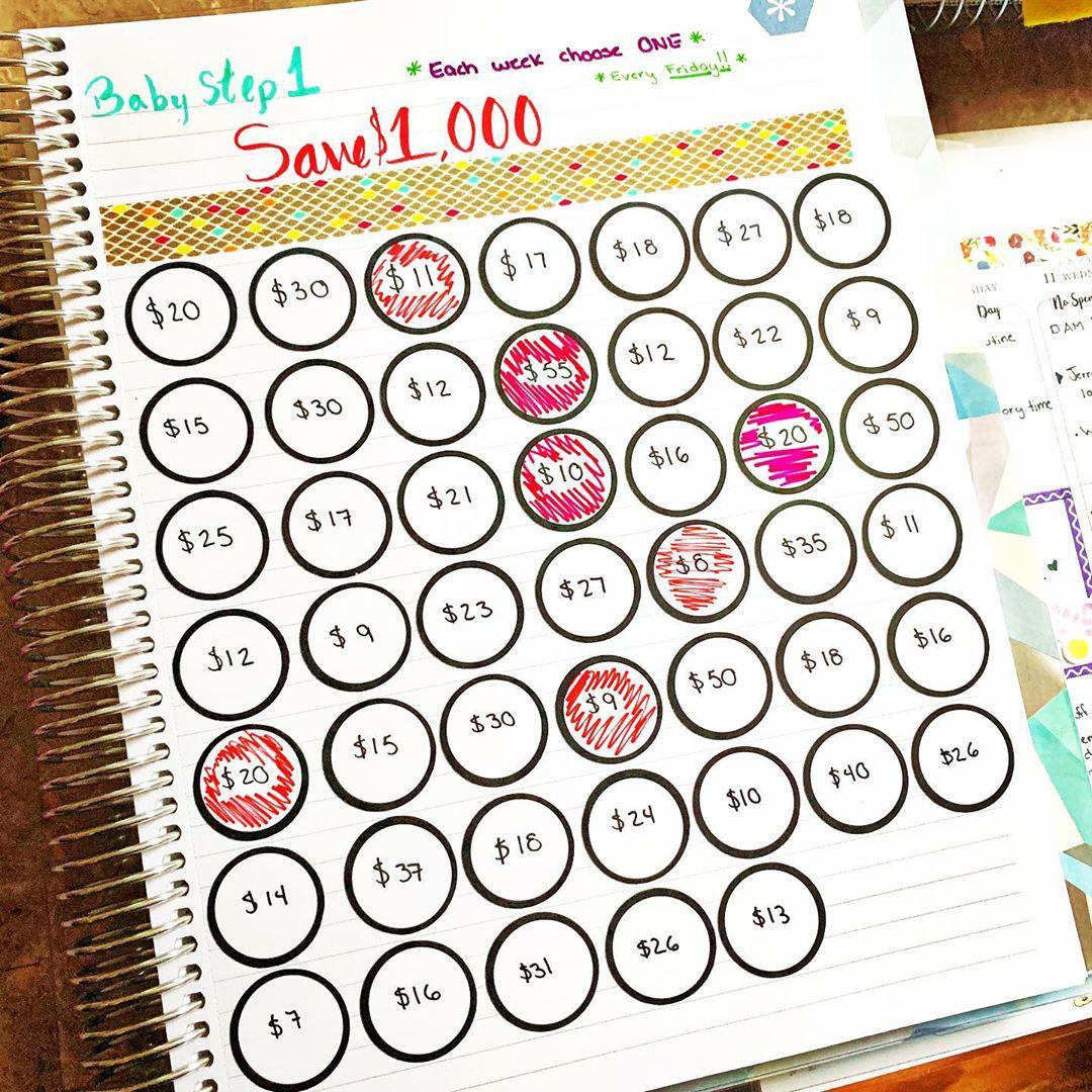 Save 1000 Bullet Journal Idea