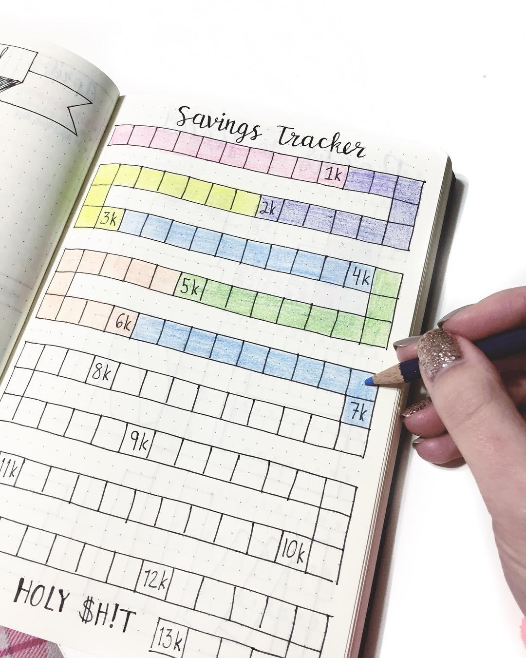 Savings Coloring Book Tracker