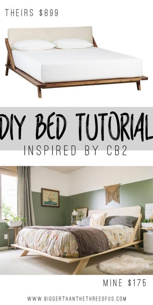 CB2 Mid-Century Modern Bed Frame Tutorial DIY