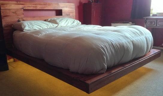 Floating Modern Bed DIY With LED Lights
